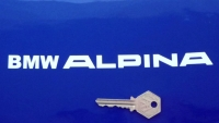 """BMW 'BMW Alpina' Later Style Cut Text Stickers. 8"""" Pair."""