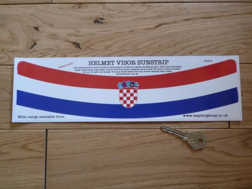 Croatia Flag Helmet Visor Curved Sunstrip Sticker. 12