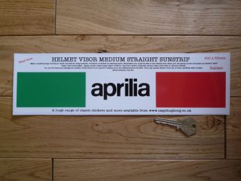 "Aprilia Helmet Visor Straight Sunstrip Sticker. 12"". 50mm Tall."