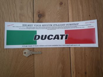 "Ducati Helmet Visor Straight Sunstrip Sticker. 12"". 50mm Tall."