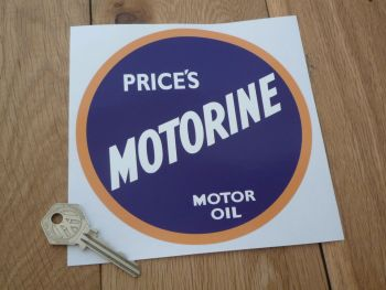 "Price's Motorine Motor Oil Sticker. 12""."