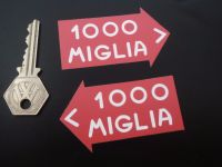 Mille Miglia Directional Close Cut Style Stickers. 3
