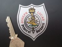 Joseph Lucas Prince of Darkness Shield Sticker. 2.25