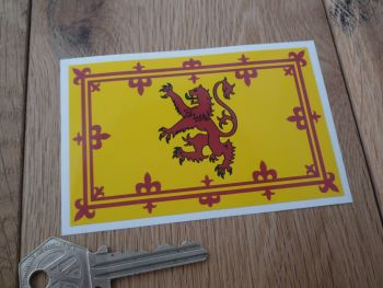 "Scottish Royal Standard Flag Sticker. 4""."