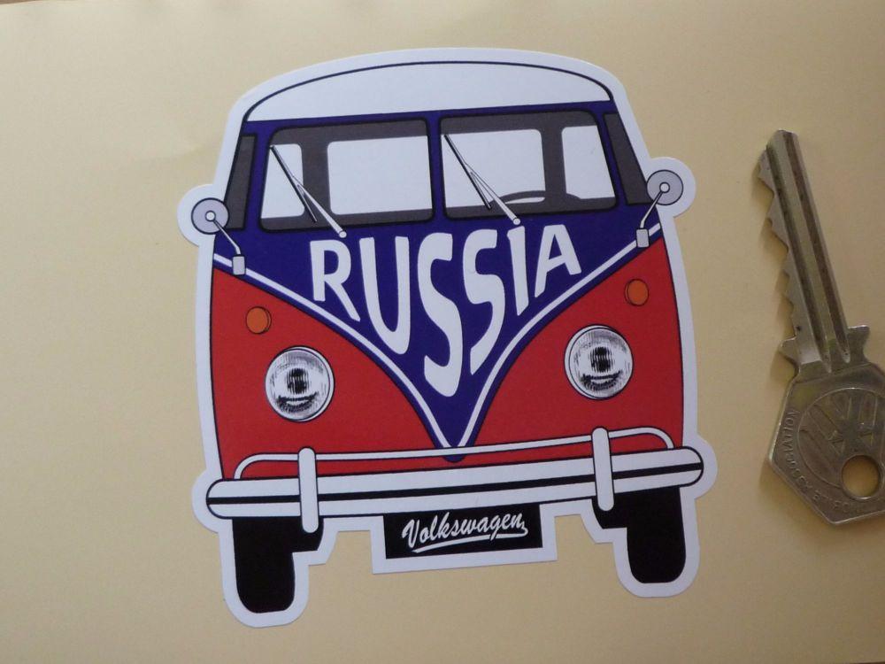 """Russia Federation Volkswagen Campervan Travel Sticker. 3.5""""."""