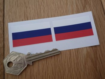 Russia Flag Stickers. 45mm Pair.
