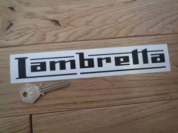"""Lambretta Cut Text Sticker. 4"""", 6"""", or 8""""."""