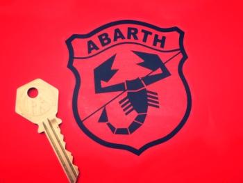 "Abarth Shield Black & Clear Sticker. 3.5""."
