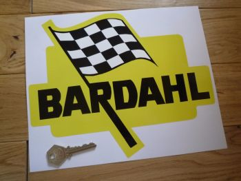"Bardahl Shaped Sticker. 10""."
