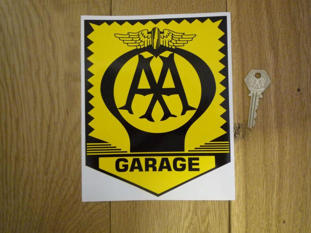 AA Garage Sign Sticker. 8