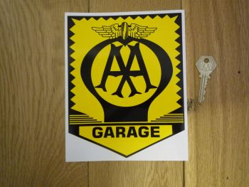 "AA Garage Sign Sticker. 8""."