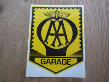 "AA Garage Sign Large Sticker. 18""."