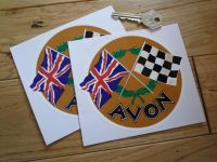 Avon Crossed Flag Classic 50's & 60's Stickers. 1.75