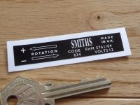 Smiths Heater Label FHM 5761/09 Sticker. 65mm.