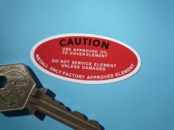 """Power Steering, Use Approved Oil to Cover Element Sticker. 2.25""""."""