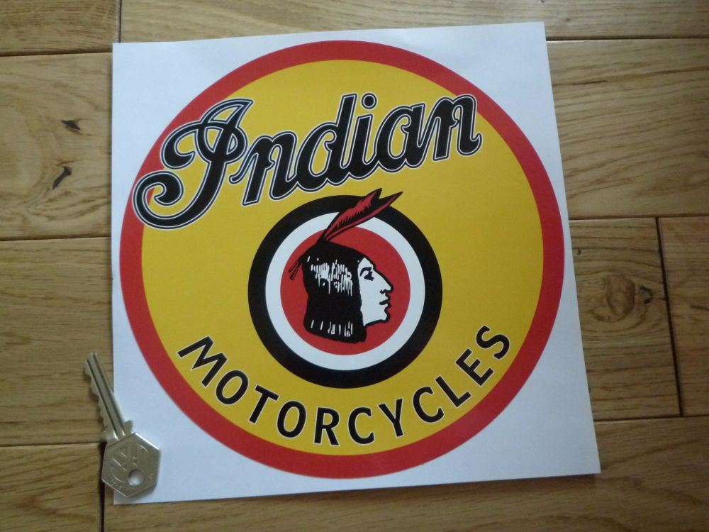 "Indian Motorcycles Circular Chief Sticker. 8""."