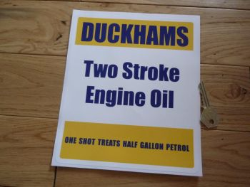 "Duckhams Two Stroke Pump Engine Oil Style Sticker. 8.5""."