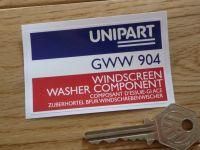 Unipart Windscreen Washer Component GWW 904 Sticker. 3