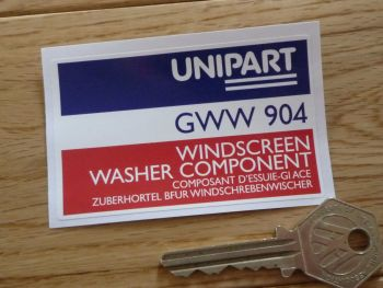 "Unipart Windscreen Washer Component GWW 904 Sticker. 3""."
