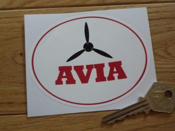 "Avia Oval Logo Sticker. 4""."