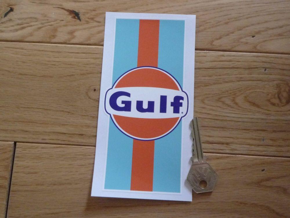 """Gulf Logo & Stripes Sticker. 6""""."""