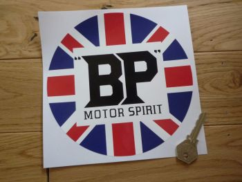 "BP Motor Spirit Union Jack Pre-War Circular Sticker. 7""."