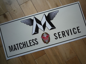 "Matchless Motorcycles Sales & Service Workshop Sticker. 23.5""."