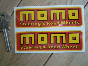 """MOMO Steering & Road Wheels Stickers. 4"""" or 8"""" Pair."""
