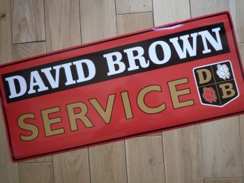 "David Brown Service Sticker. 23.5""."