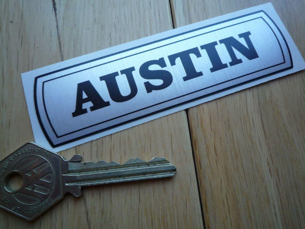 "Austin Mini 1100 etc BMC Old Style Thick Foil Sticker. 4""."