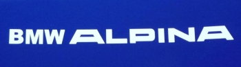 "BMW 'BMW Alpina' Later Style Cut Text Sticker. 19.5"" or 39""."