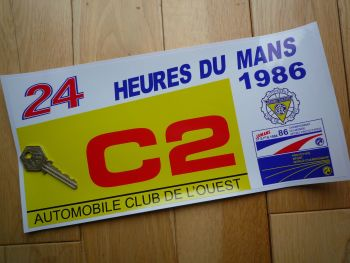 "24 Heures Du Mans LeMans Le Mans 1986 Group C2 Class Sticker. 12""."