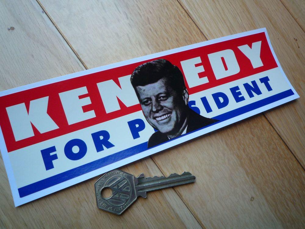 "JFK Kennedy For President Vintage Style Bumper Sticker. 8""."