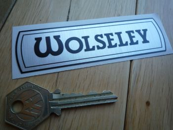 "Wolsley Hornet 1100 etc BMC Old Style Thick Foil Sticker. 4""."