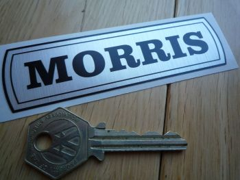 "Morris Mini 1100 etc BMC Old Style Thick Foil Sticker. 4""."