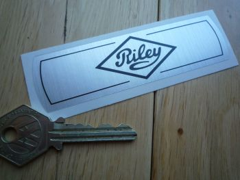 "Riley 1500 Elf Kestrel BMC Old Style Thick Foil Sticker. 4""."