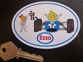 "Esso Oil Drip Couple Racing Car Sticker. 4""."