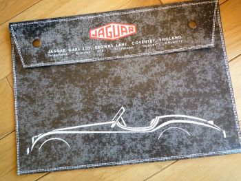 "Jaguar XK120 Black Document Holder/Light Toolbag for A4 size. 14""."