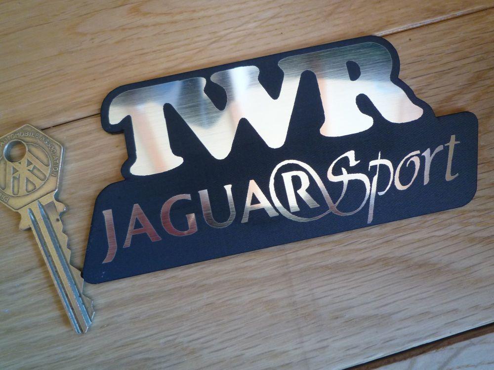 """TWR Jaguar Sport Logo Laser Cut Self Adhesive Car Badge. 4.75""""."""