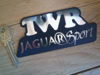 "TWR Jaguar Sport Logo Laser Cut Self Adhesive Car Badge. 4.75""."