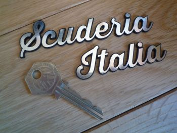 "Scuderia Italia Laser Cut Self Adhesive Car Badge. 7""."