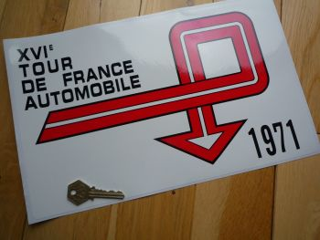 """Tour de France Automobile Rally Plate Style Sticker. Various Years. 13""""."""