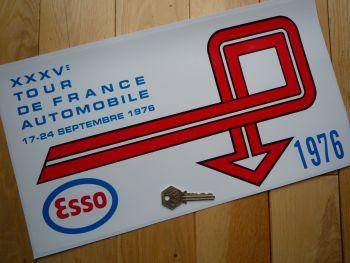 "Tour de France Automobile Esso 1976 Rally Plate Style Sticker. 16""."
