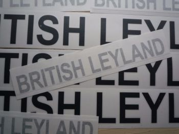 "British Leyland Cut Text Stickers. 26"" Pair."
