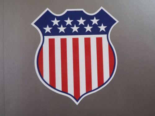 USA Stars & Stripes Shield Style Stickers. 30mm set of four.
