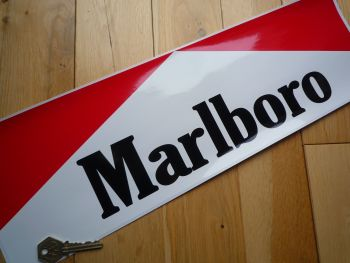 "Marlboro Racing Car Sponsors Sticker. 19.5""."