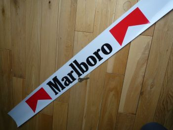 "Marlboro Racing Car Small Sunstrip Style Sticker. 43.5""."