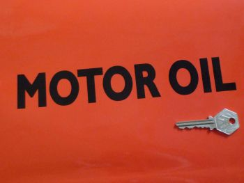 "Motor Oil Cut Text Sticker. 9""."