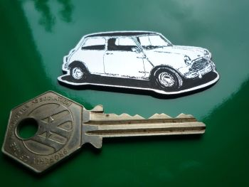 Mini Cooper S Classic Car Style Laser Cut Fridge Magnet. 2.5""