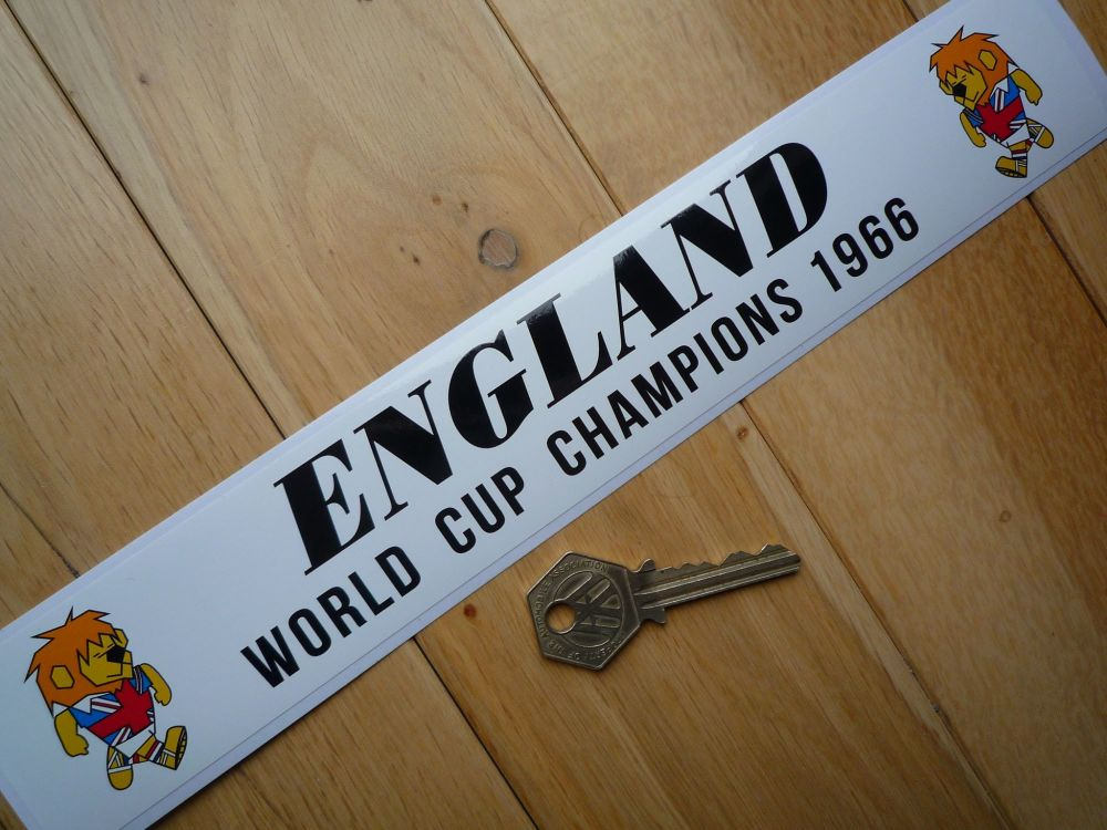 "England World Champions 1966 World Cup Willie Football Sticker. 11.5""."